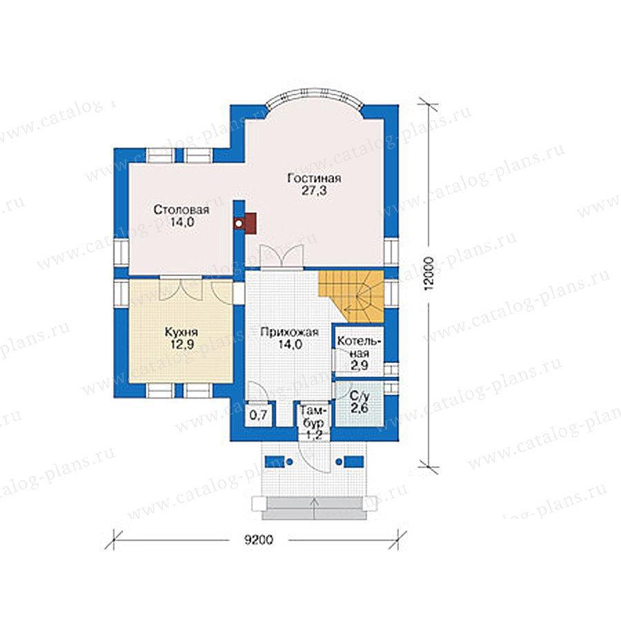 План 1-этажа проекта 55-88