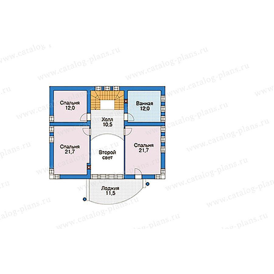 План 2-этажа проекта 56-51
