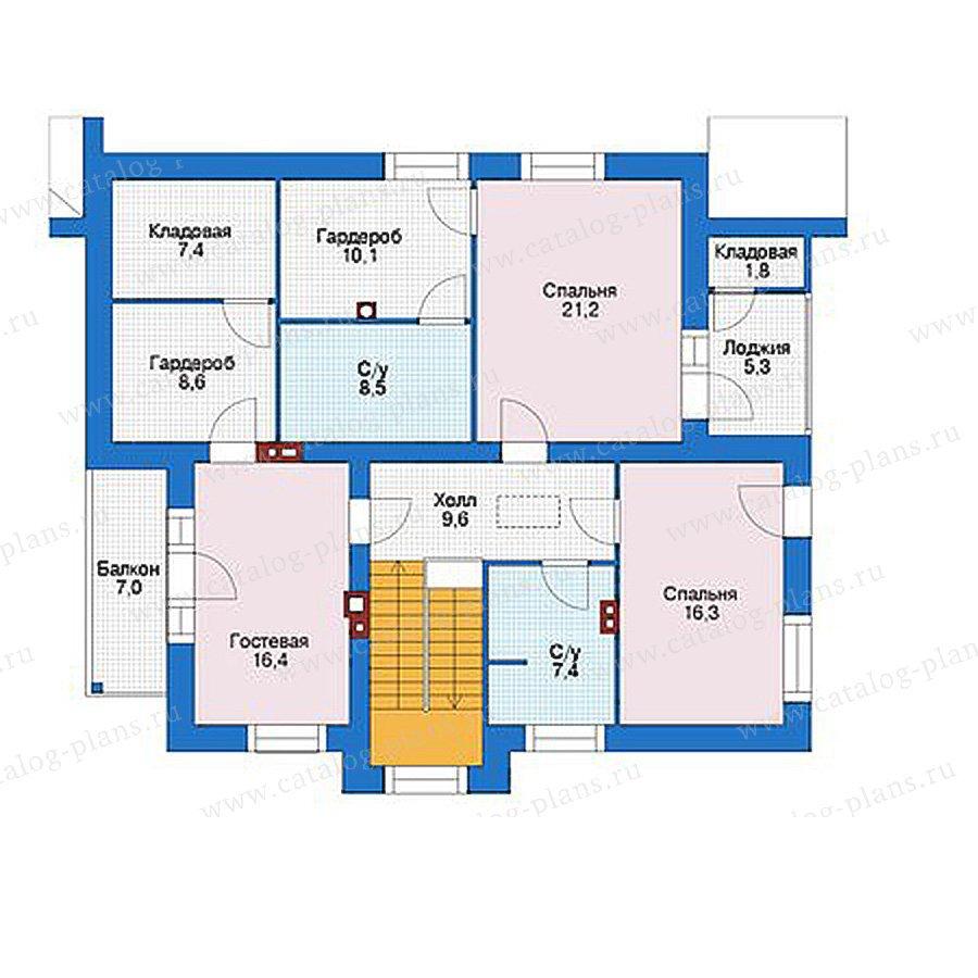 План 2-этажа проекта 56-04