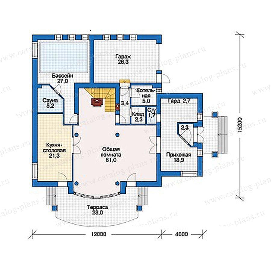 План 1-этажа проекта 56-21