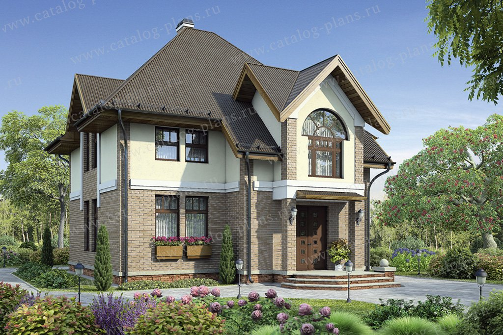 Проект жилой дом #55-01 материал - газобетон, стиль европейский