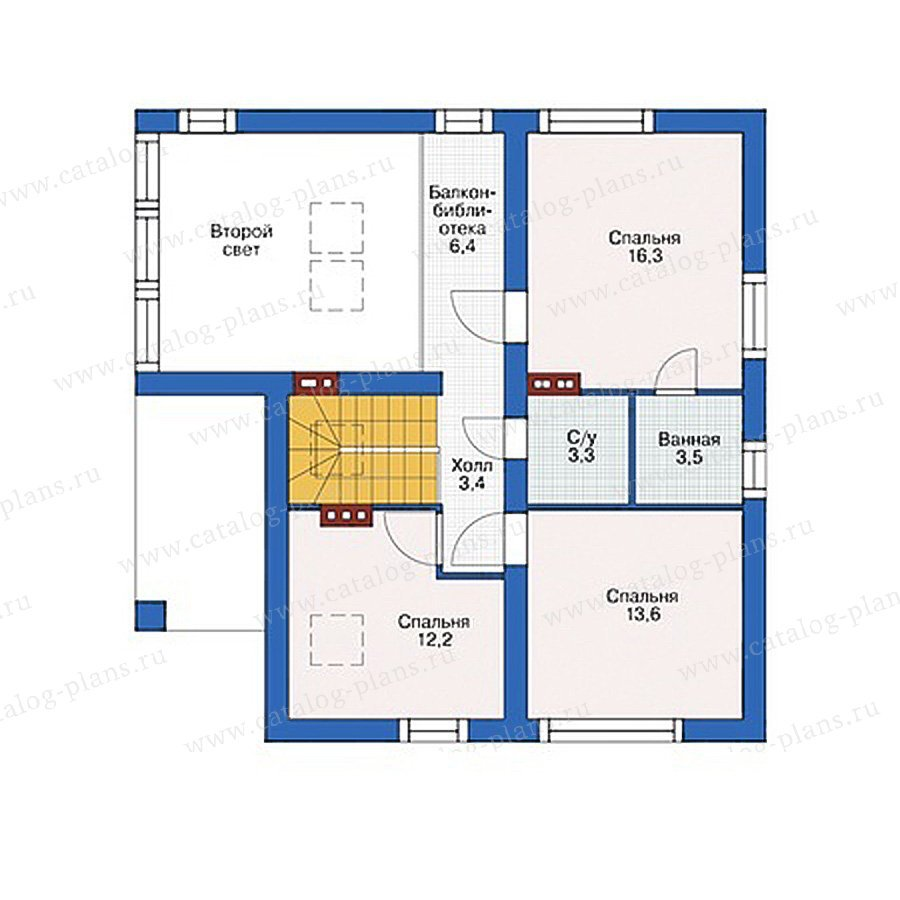 План 2-этажа проекта 55-49