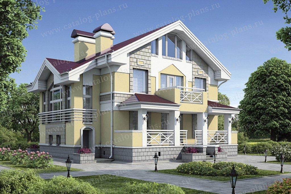 Проект жилой дом #55-04 материал - газобетон, стиль европейский