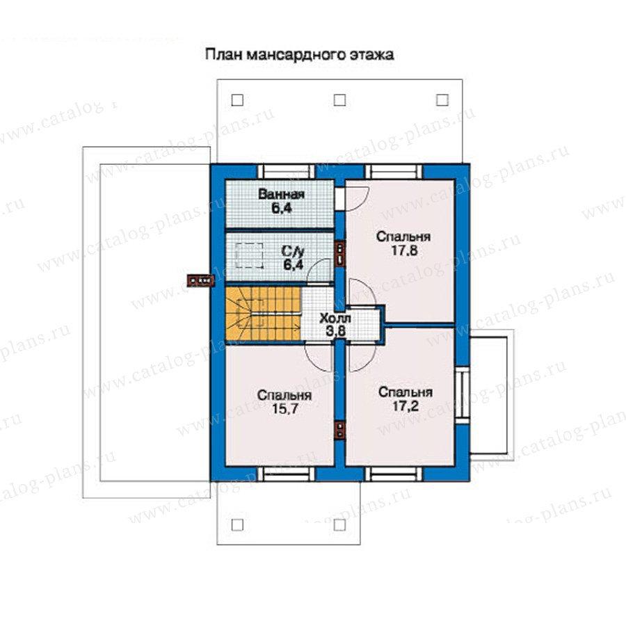 План 2-этажа проекта 55-14