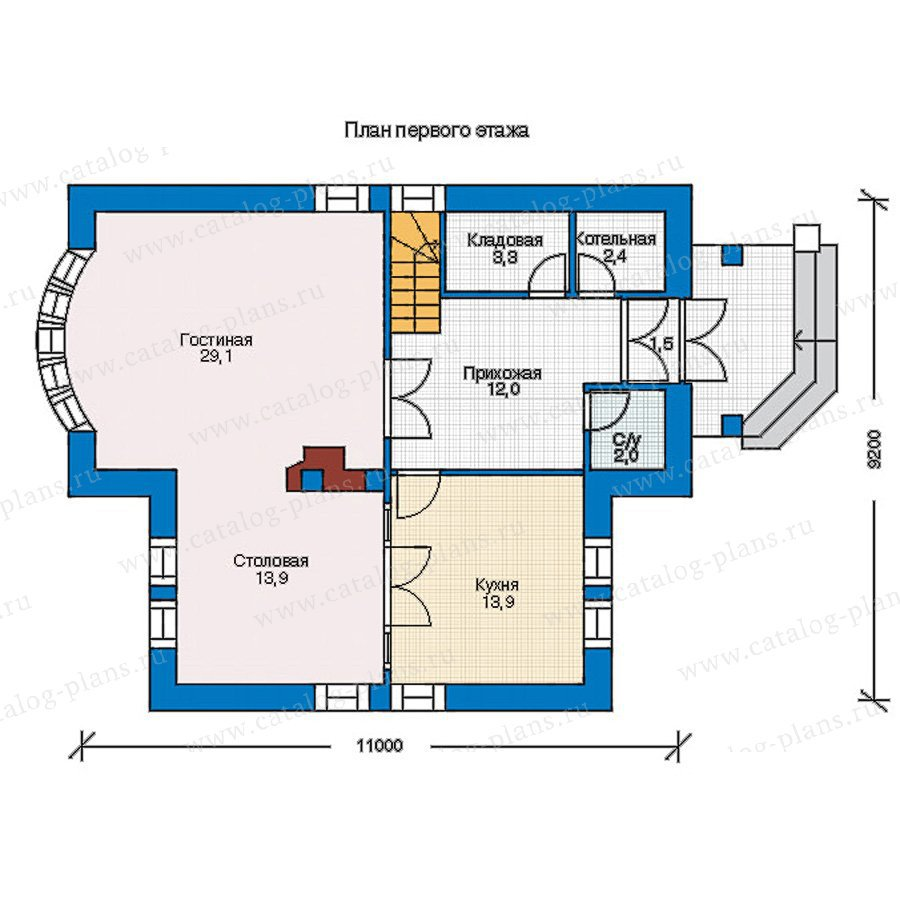 План 1-этажа проекта 55-01