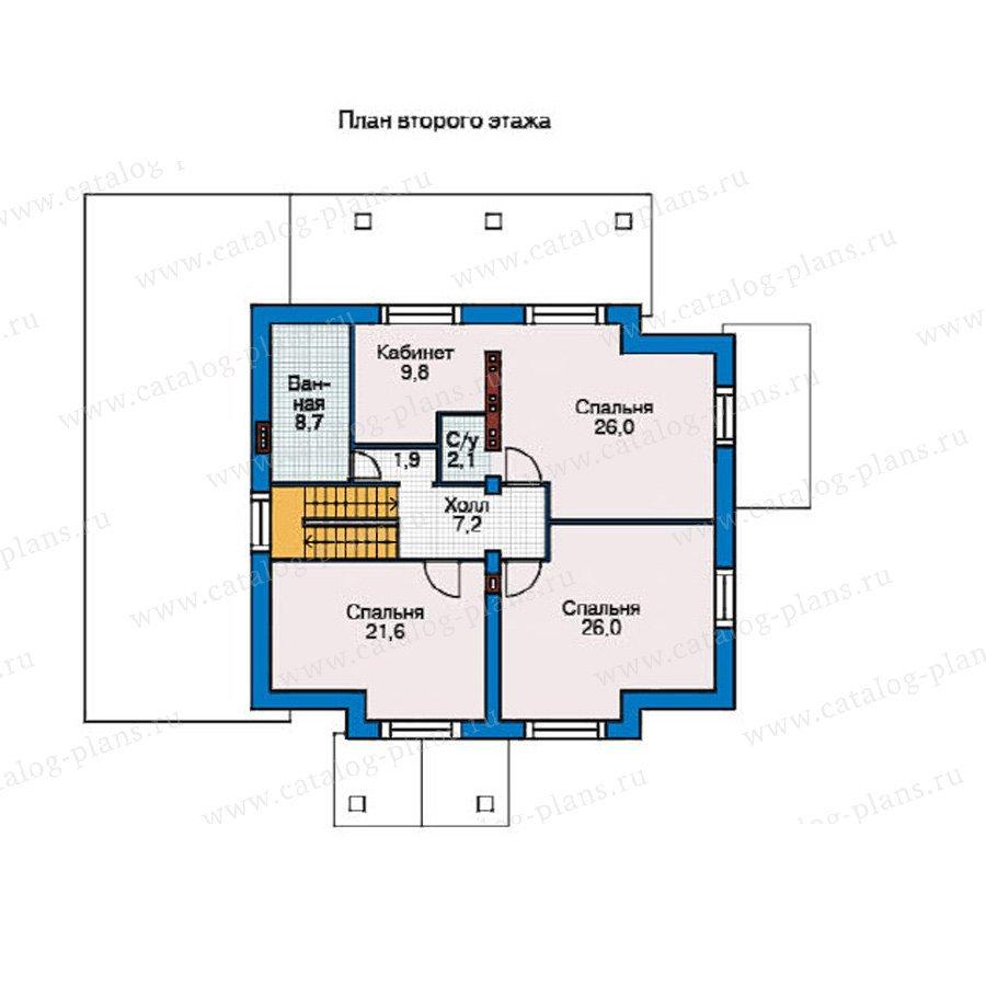 План 2-этажа проекта 55-10