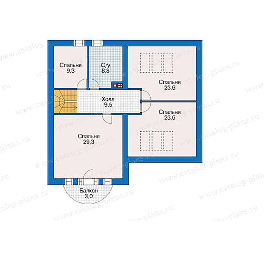 План 3-этажа проекта 55-90