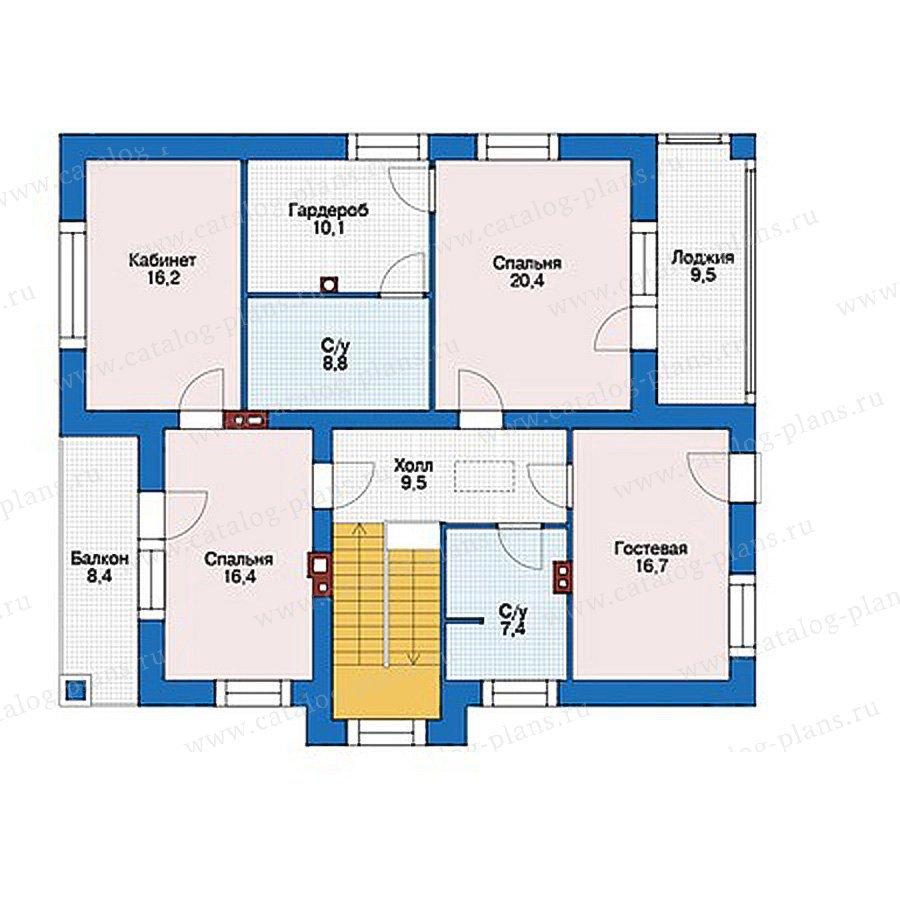 План 2-этажа проекта 56-19
