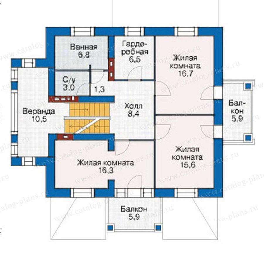 План 2-этажа проекта 55-04