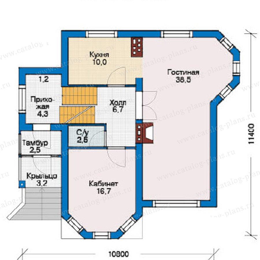 План 2-этажа проекта 54-64