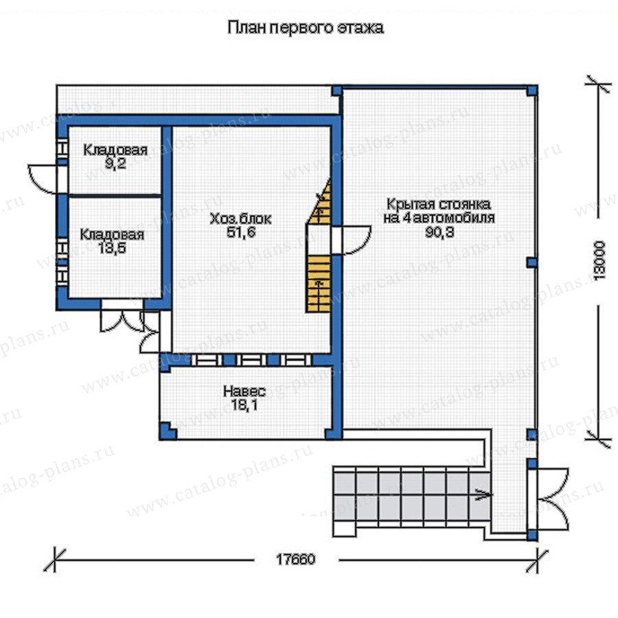 План 1-этажа проекта 55-06