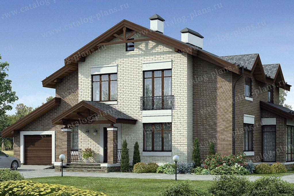 Проект жилой дом #55-10 материал - газобетон, стиль европейский