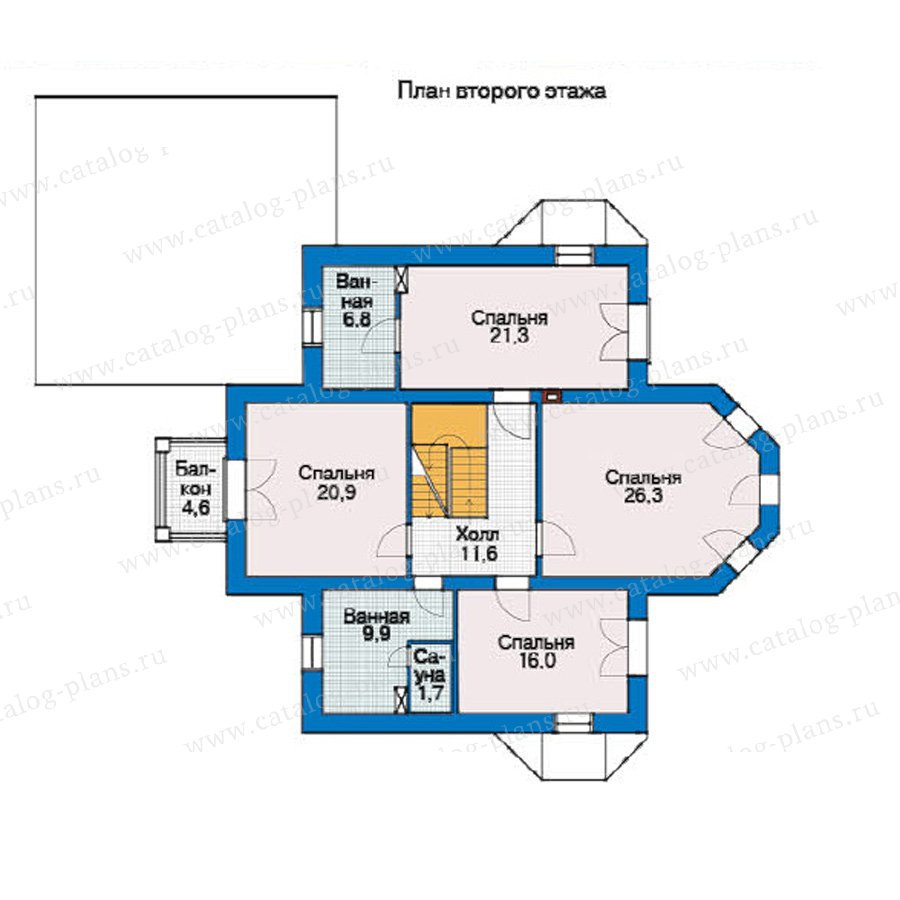 План 2-этажа проекта 54-92