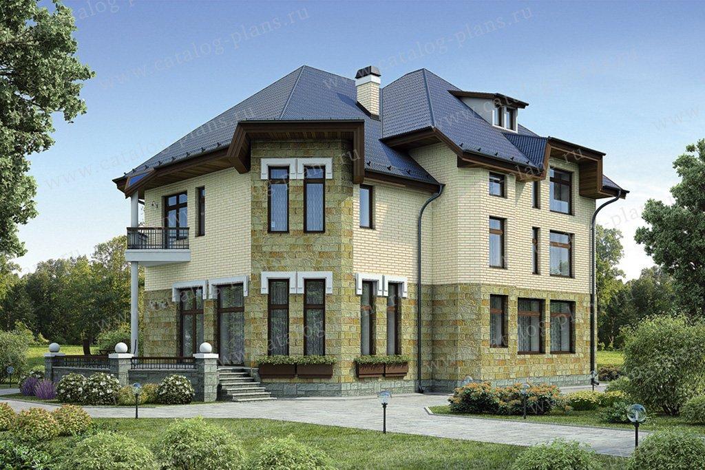 Проект жилой дом #55-19 материал - газобетон, стиль европейский
