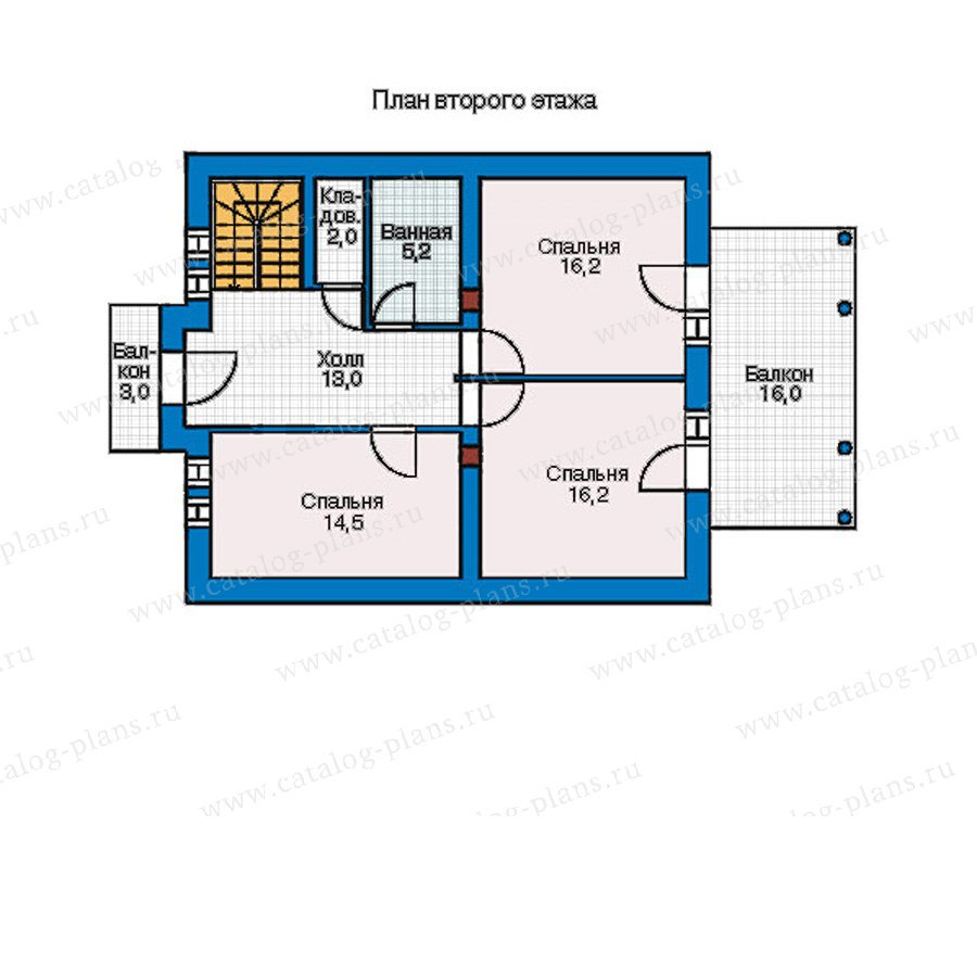 План 2-этажа проекта 55-16
