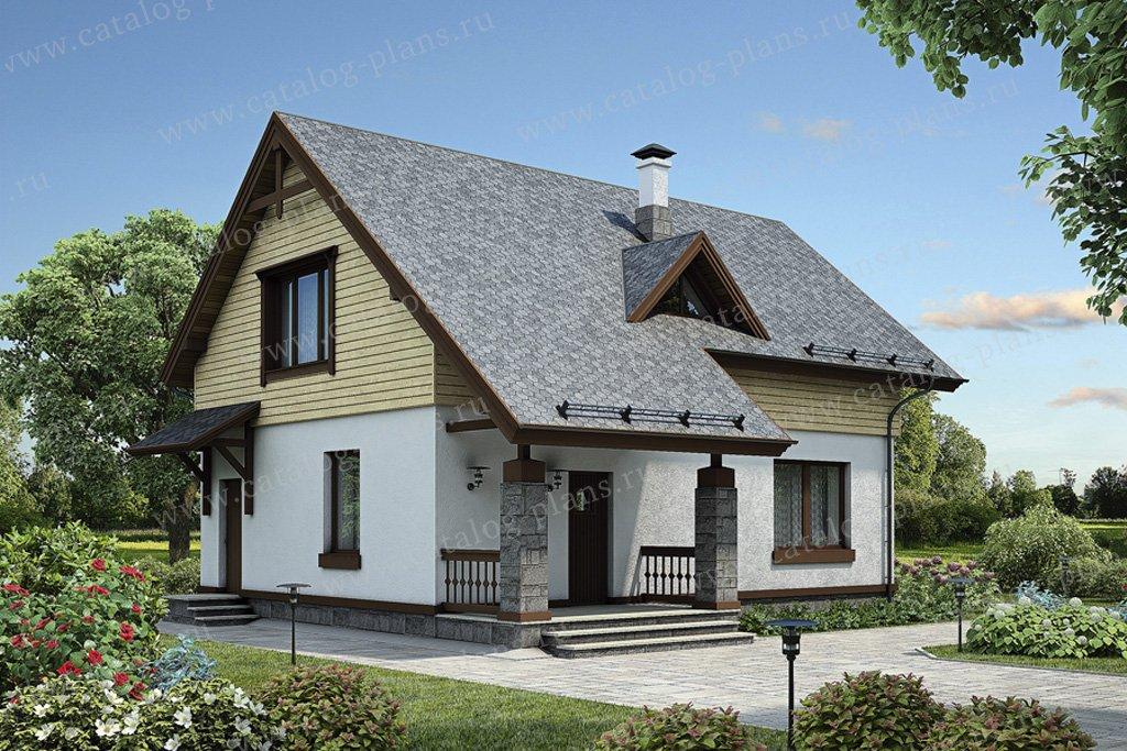 Проект жилой дом #55-31 материал - газобетон, стиль скандинавский