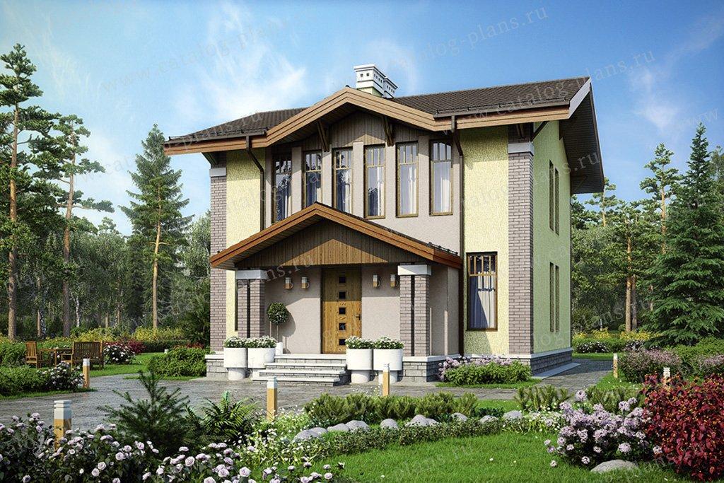 Проект жилой дом #56-95 материал - газобетон, стиль европейский