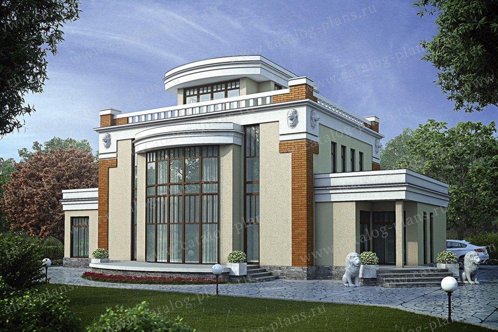 Проект жилой дом #55-89 материал - газобетон, стиль классический