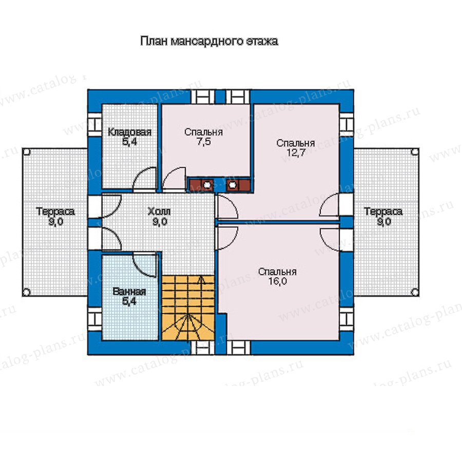 План 2-этажа проекта 56-92