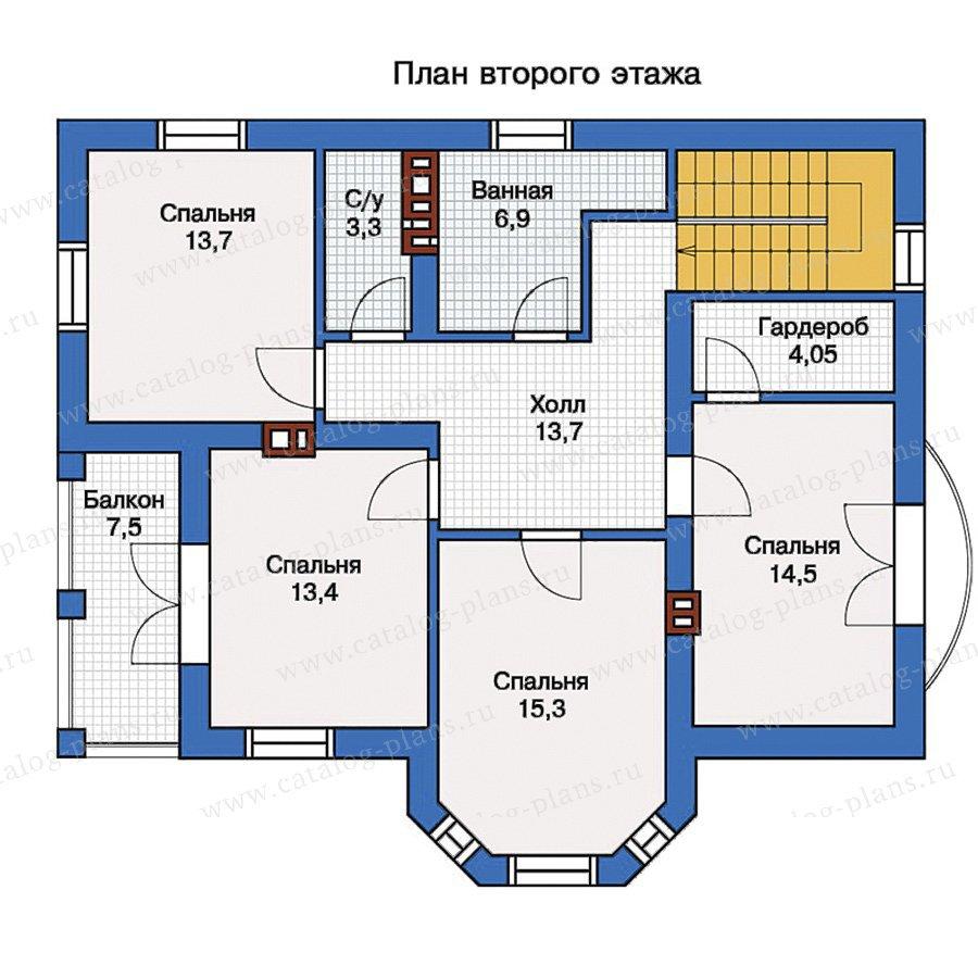 План 2-этажа проекта 57-14