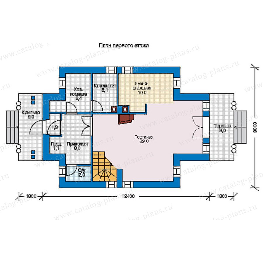 План 1-этажа проекта 56-95