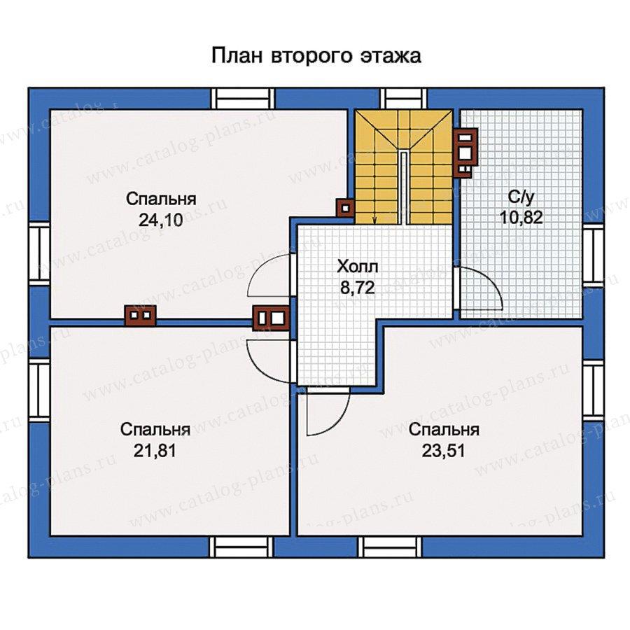 План 2-этажа проекта 56-98