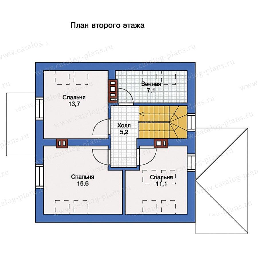 План 2-этажа проекта 57-17K