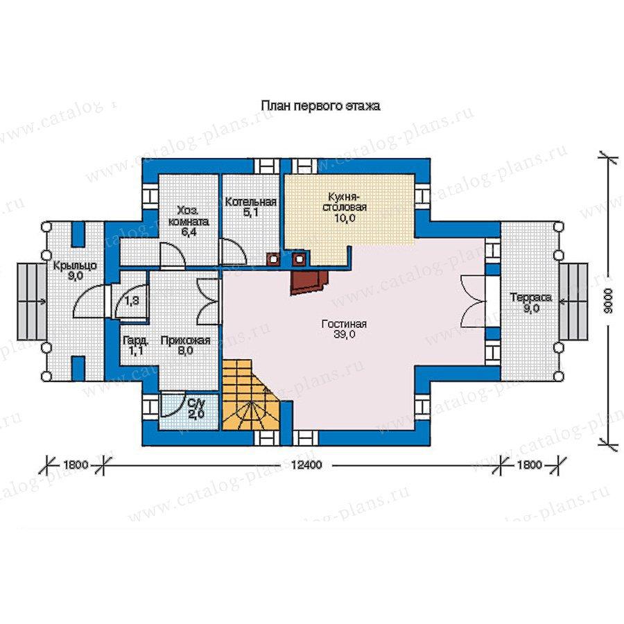 План 1-этажа проекта 56-92