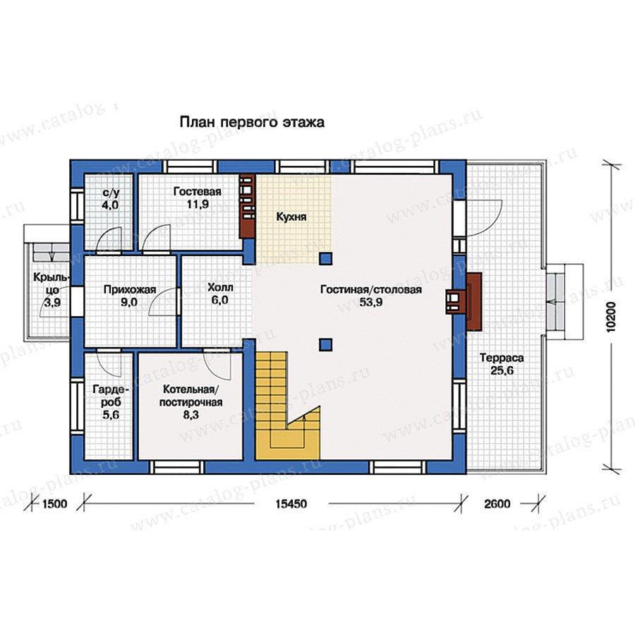 План 1-этажа проекта 57-10