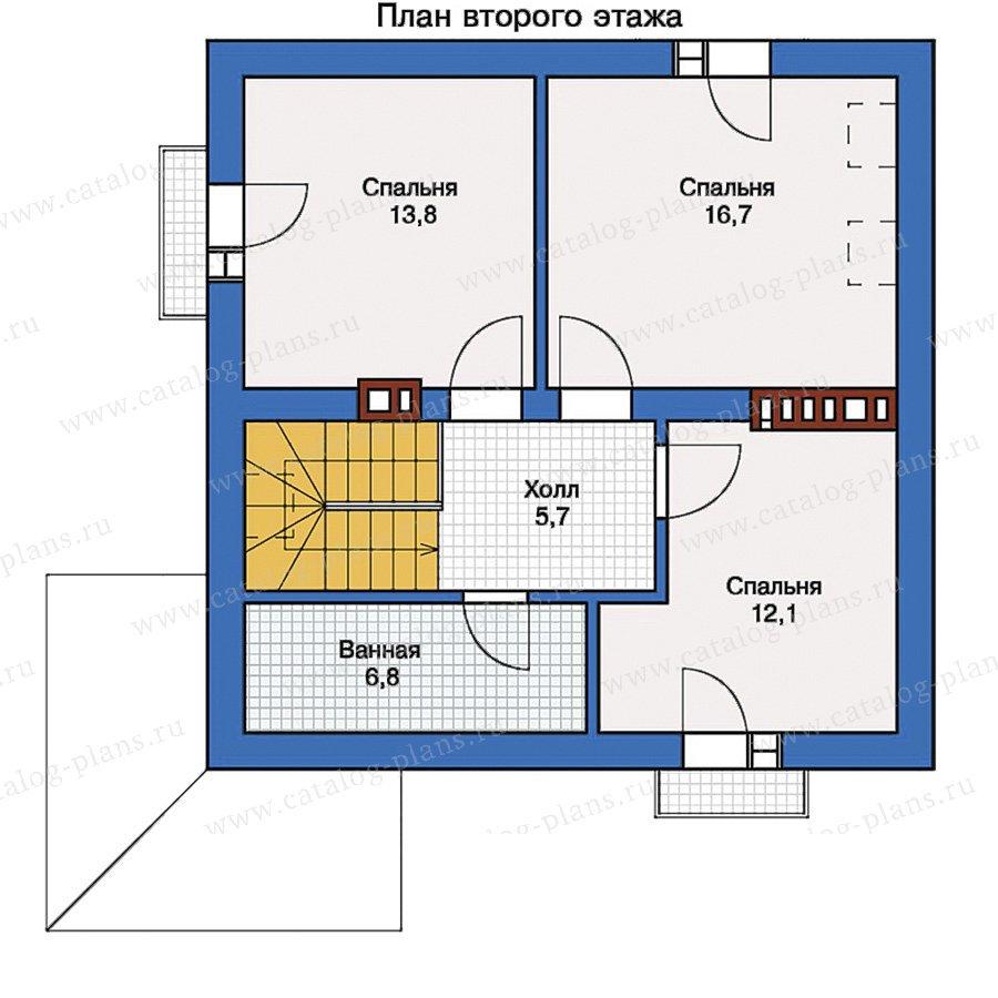 План 2-этажа проекта 57-08