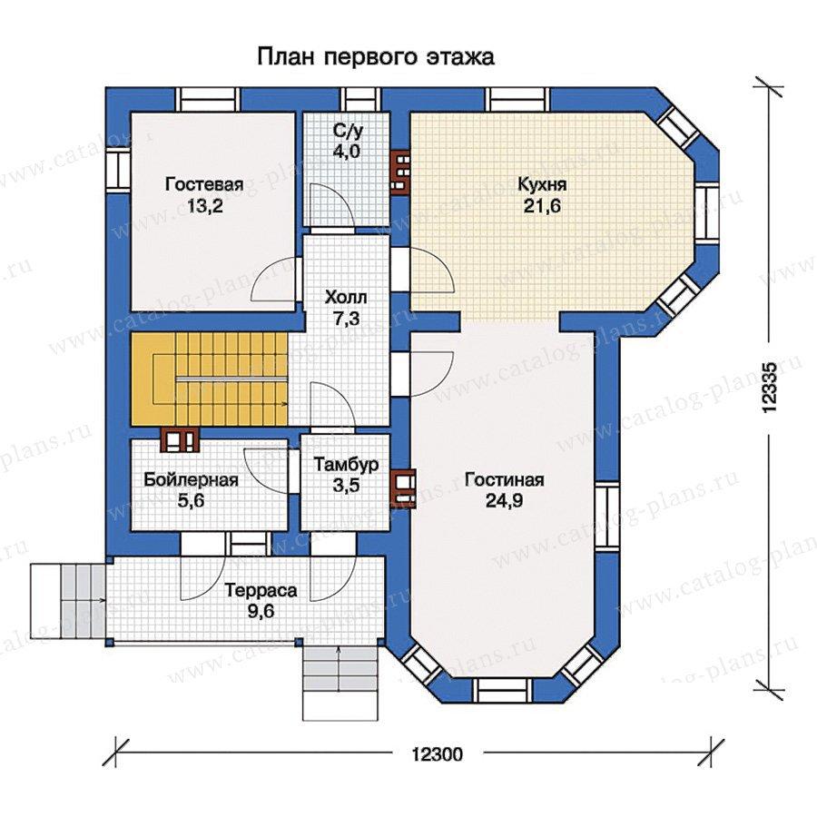 План 1-этажа проекта 56-97