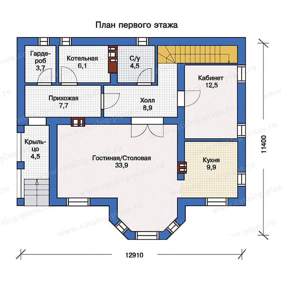 План 1-этажа проекта 57-14