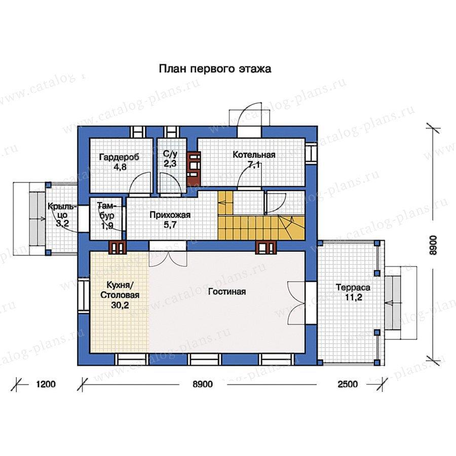 План 1-этажа проекта 57-17K