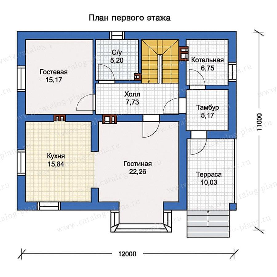 План 1-этажа проекта 56-98