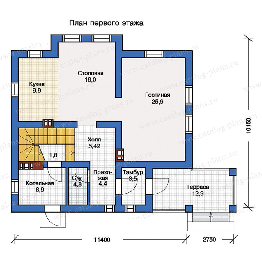 План 1-этажа проекта 57-16K