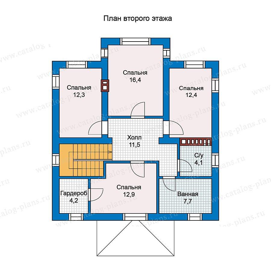 План 2-этажа проекта 57-12