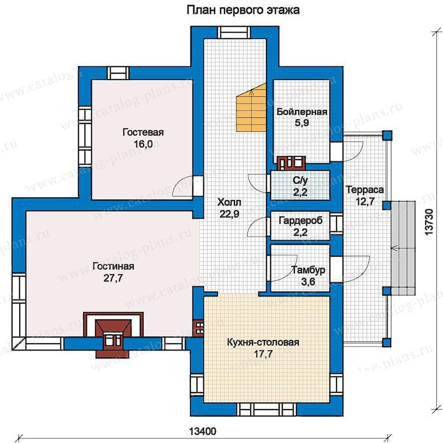 План 1-этажа проекта 57-18