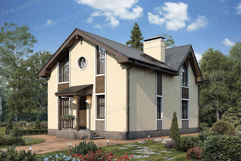 Проект жилой дом #57-13K материал - кирпич, стиль европейский
