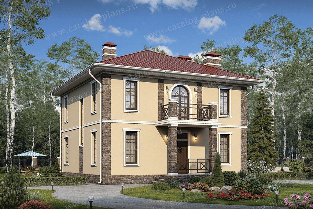 Проект жилой дом #57-05CK материал - кирпич, стиль европейский