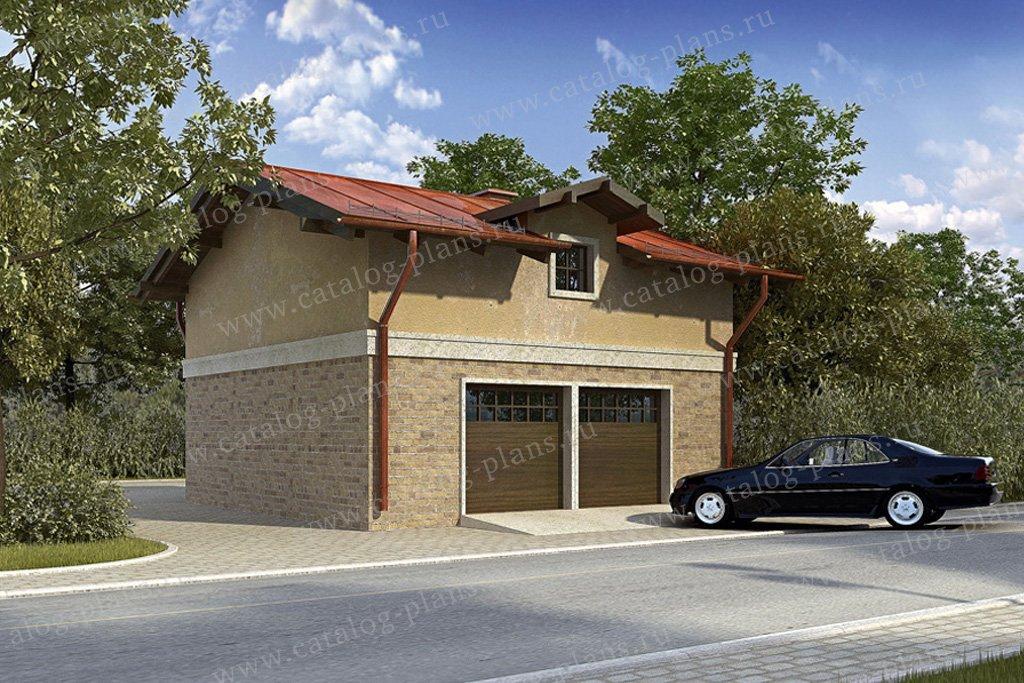 Проект жилой дом #90-07 материал - кирпич, стиль европейский