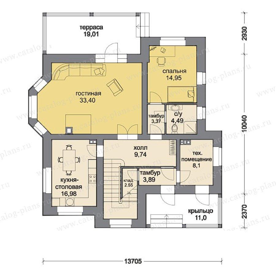План 1-этажа проекта 80-14