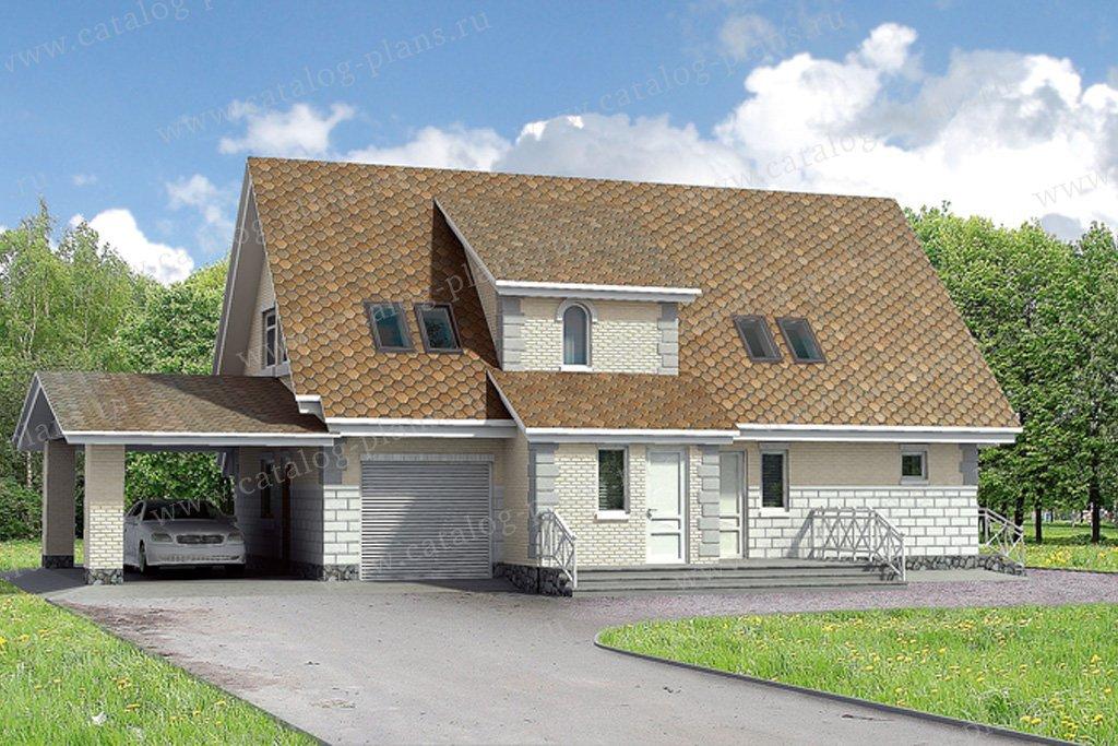Проект жилой дом #90-01 материал - газобетон, стиль прованс
