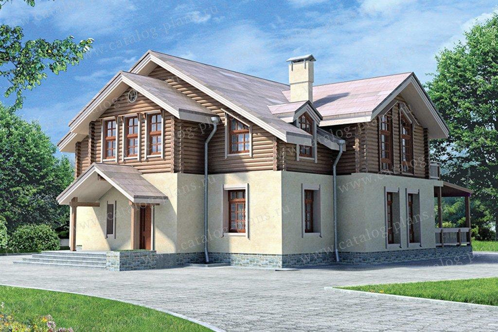 Проект жилой дом #80-10 материал - комбинированный, стиль скандинавский