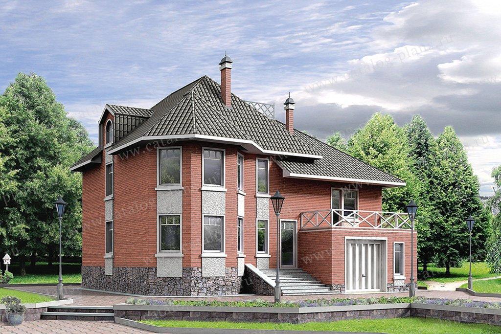 Проект жилой дом #80-05 материал - газобетон, стиль европейский