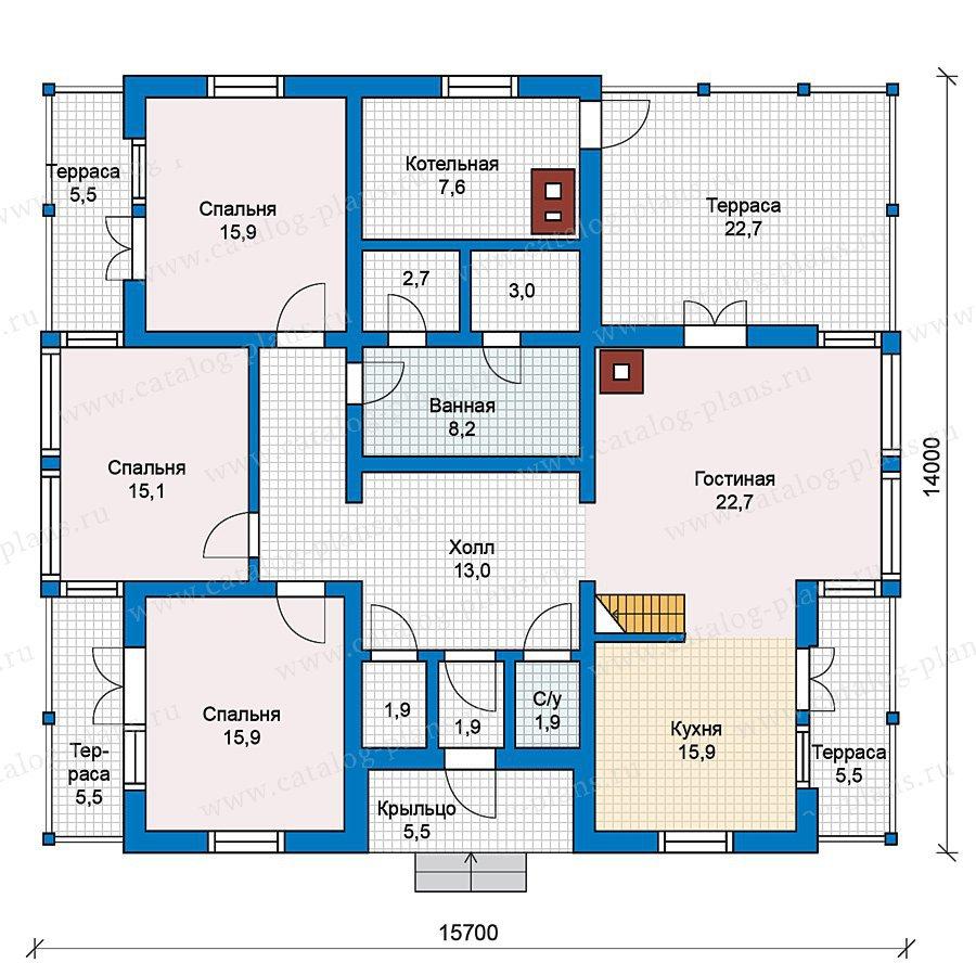 План 1-этажа проекта 70-21