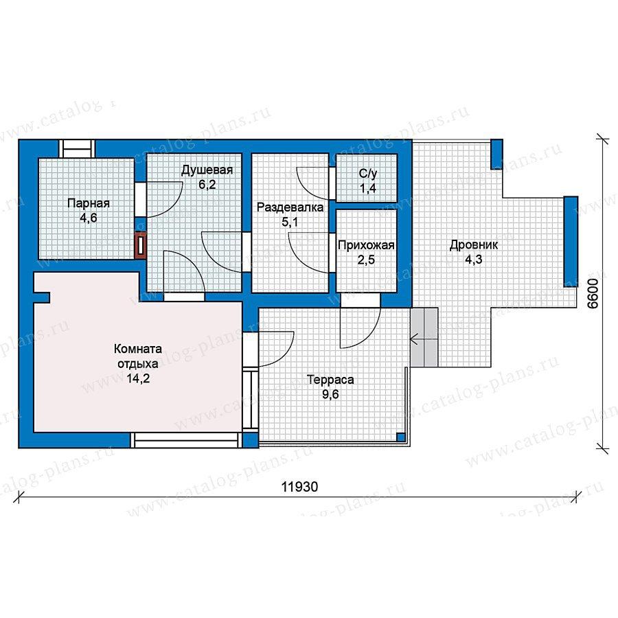 План 1-этажа проекта 70-23