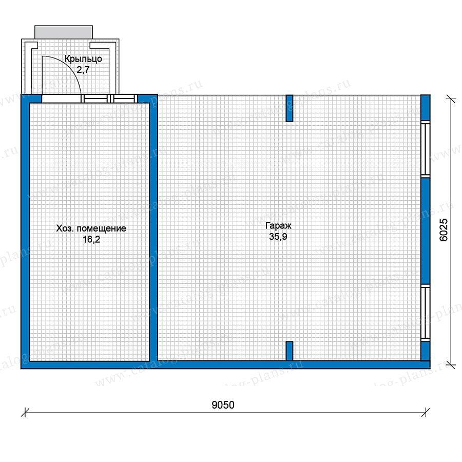 План 1-этажа проекта 70-33