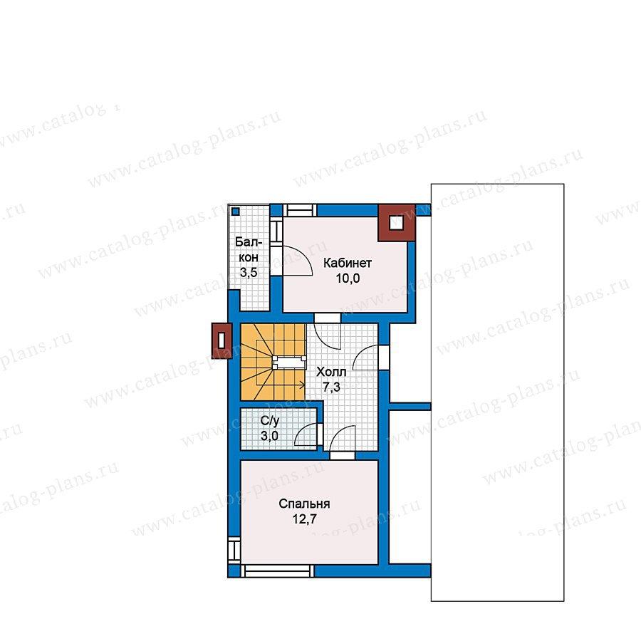 План 3-этажа проекта 70-24