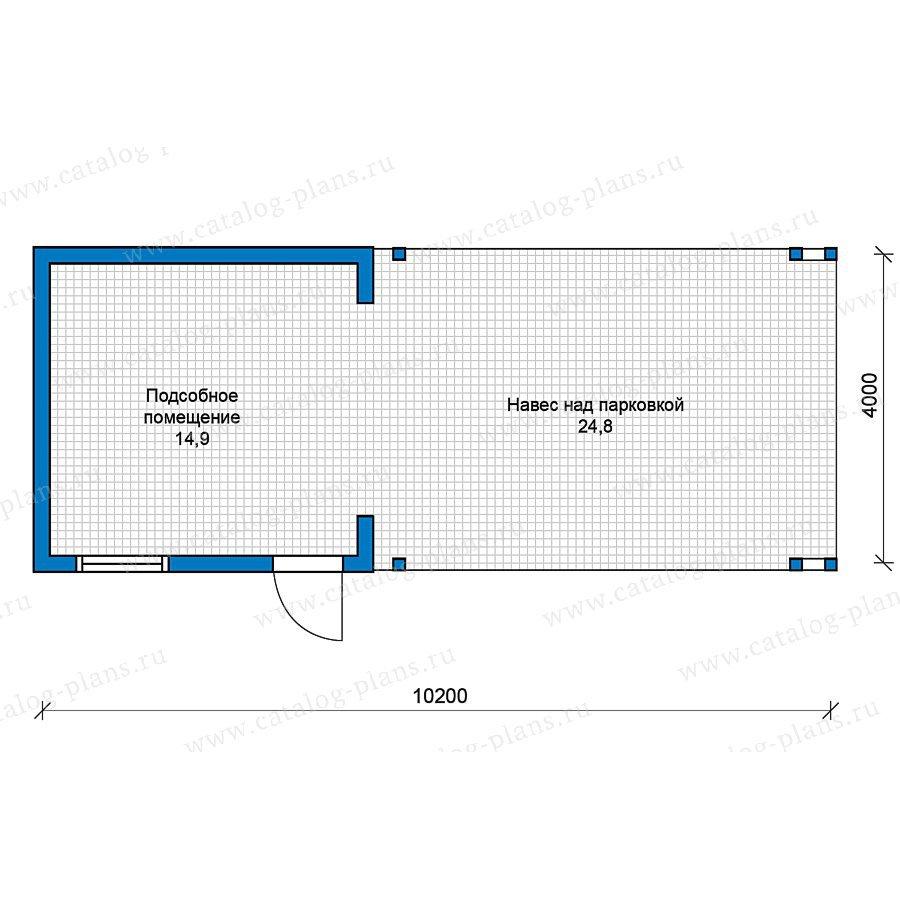 План 1-этажа проекта 70-36