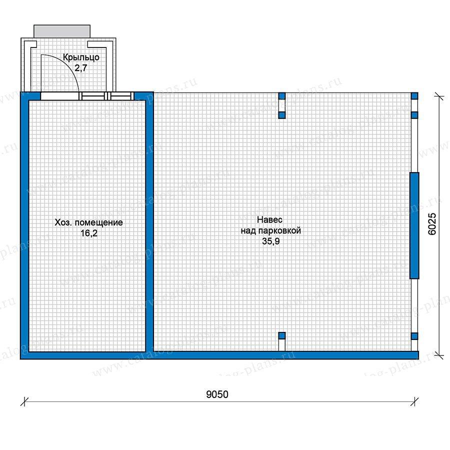 План 1-этажа проекта 70-32